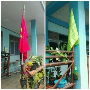 Bendera Merah dan Hijau untuk Lomba Kebersihan dan Kreativitas Kelas